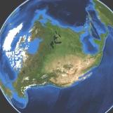 Earth half face multiple rotate