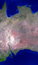 Australia land mass face multiple light flip