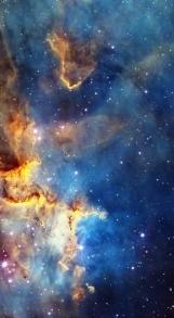 Cassiopeia nebula face & form multiple light