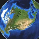 Earth half face multiple light rotate
