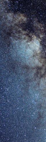 Milky Way galaxy face & form multiple light