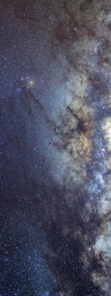 Milky Way galaxy face & form multiple 2 light