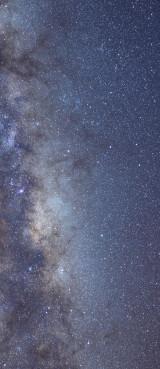 Milky Way galaxy face & form multiple 3 flip