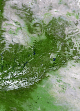 North America land mass face multiple light flip & rotate