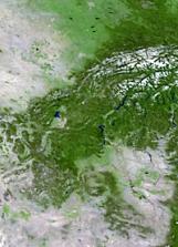 North America land mass face multiple light flip