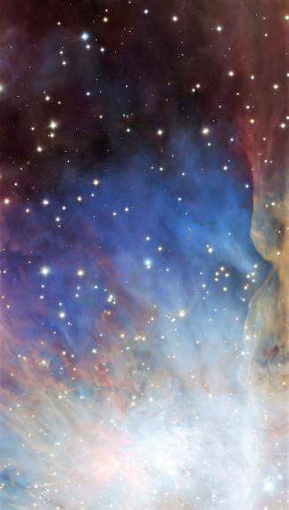 Orion nebula face & form multiple 2 light